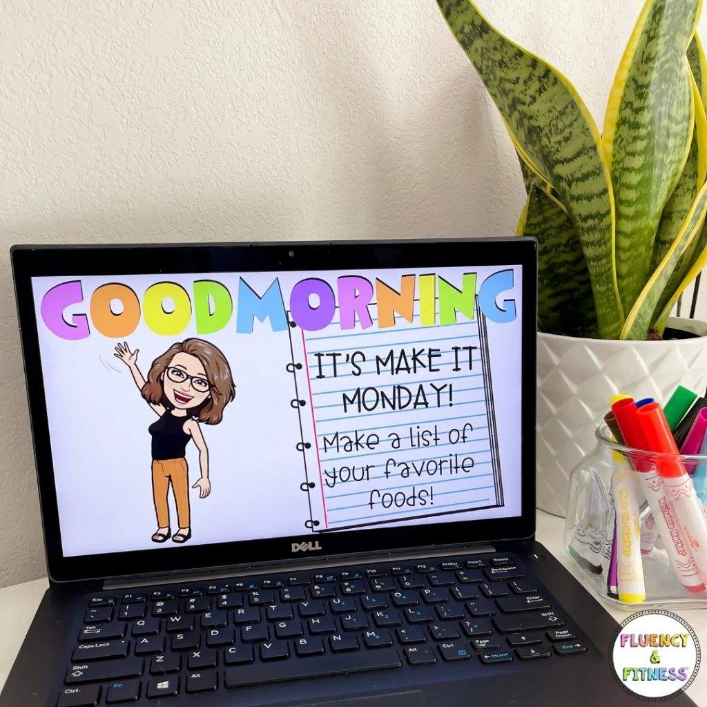 Goodmorning slideshow with Bitmoji for virtual engagement