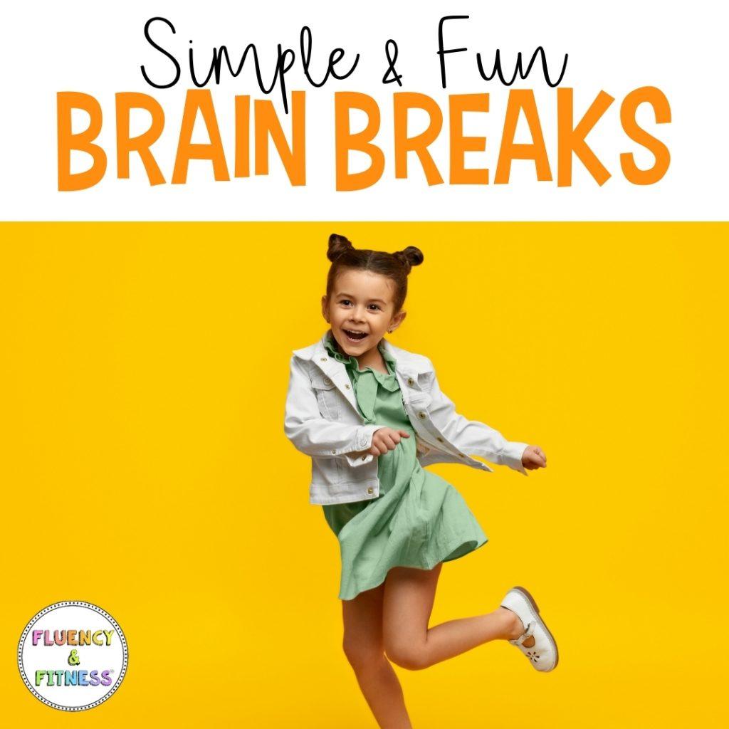 simple and fun brain breaks, little girl dancing