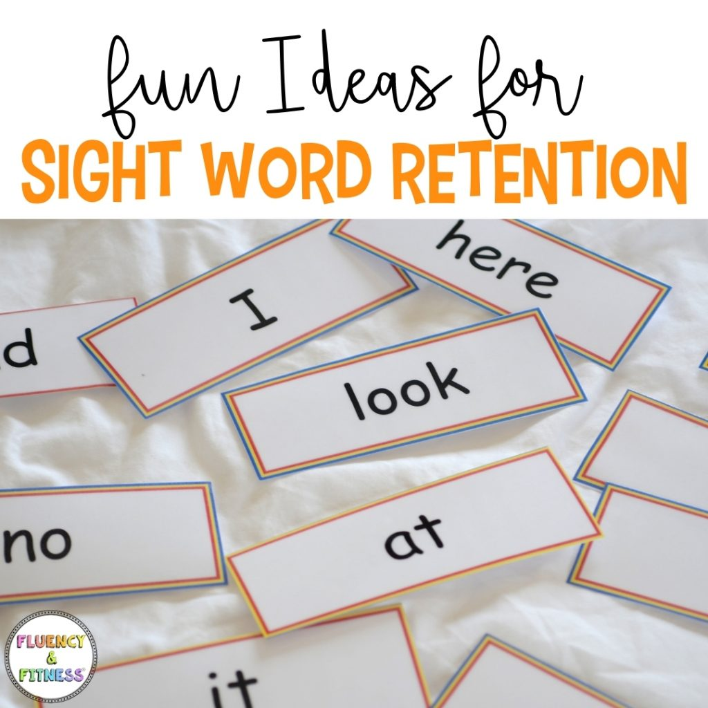 fun ideas for sight word retention with sight word flashcards