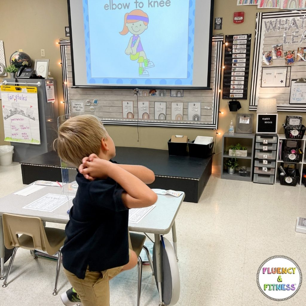 student doing fluency and fitness moves