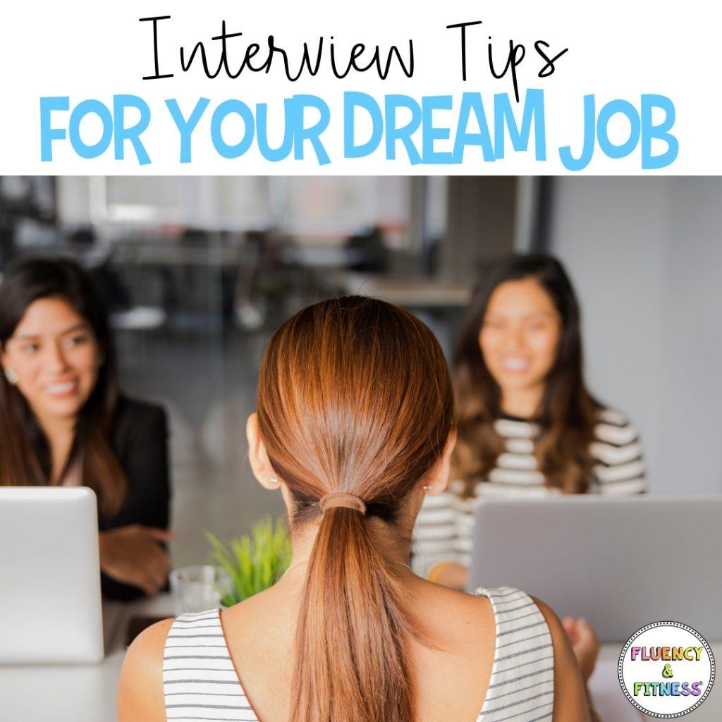 women smiling at job interview