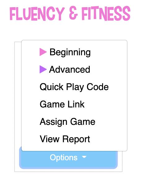 Options toolbar